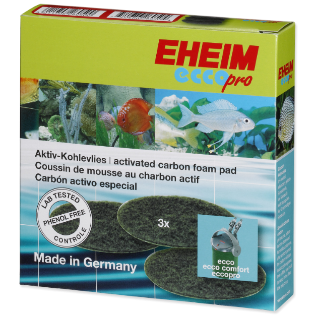 Nápln EHEIM molitan uhlíkový jemný Ecco Pro 130/200/300 3ks
